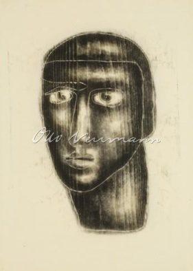 black woodblock head
